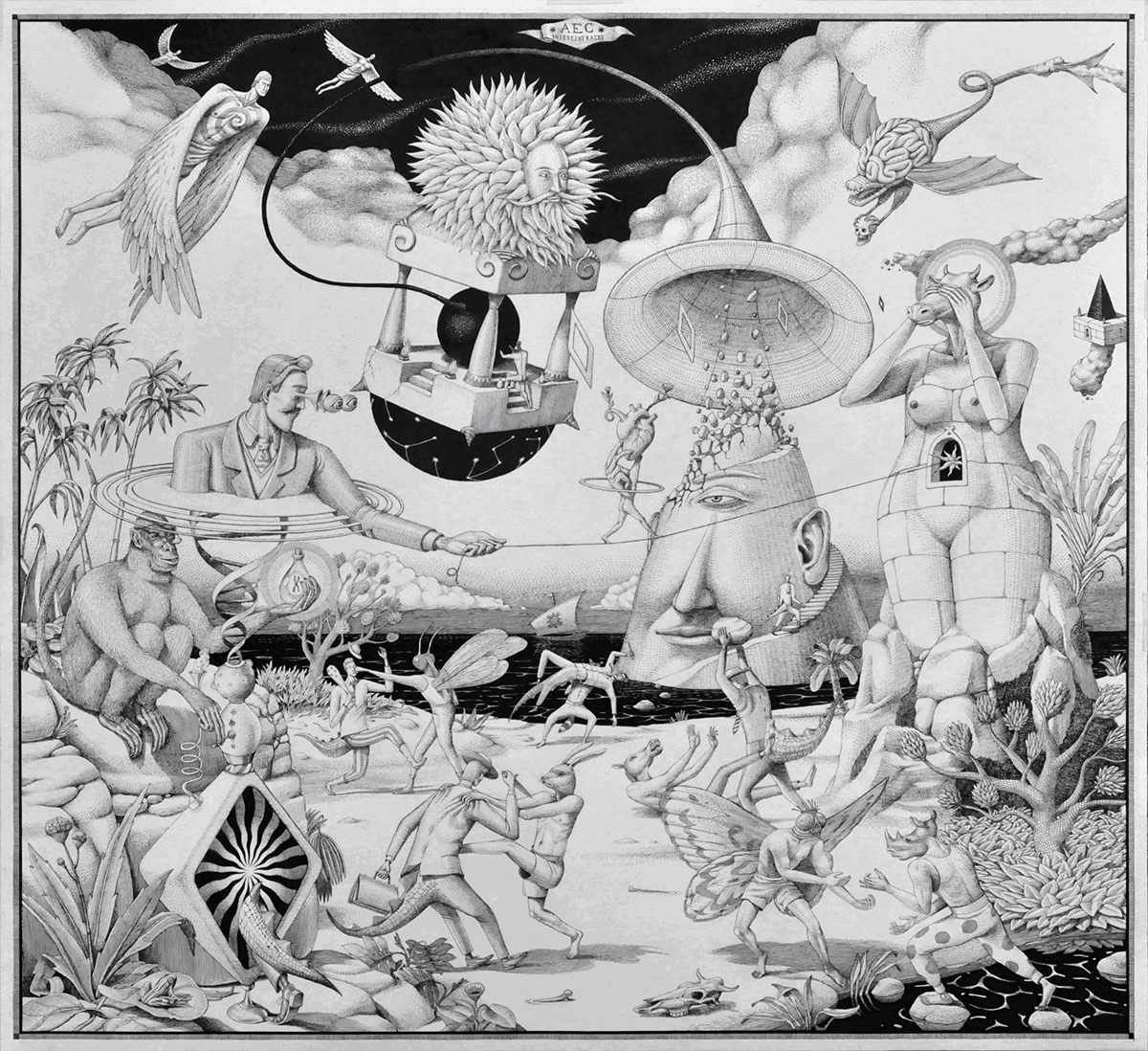 Last Day of The Babylon (AEC) - ink on paper
