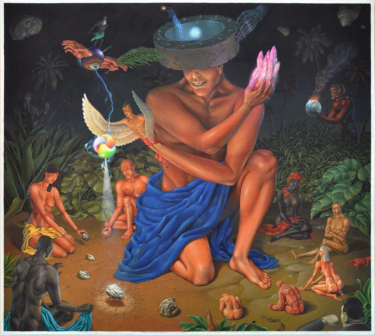 The Genesis (AEC) - acrylic on canvas