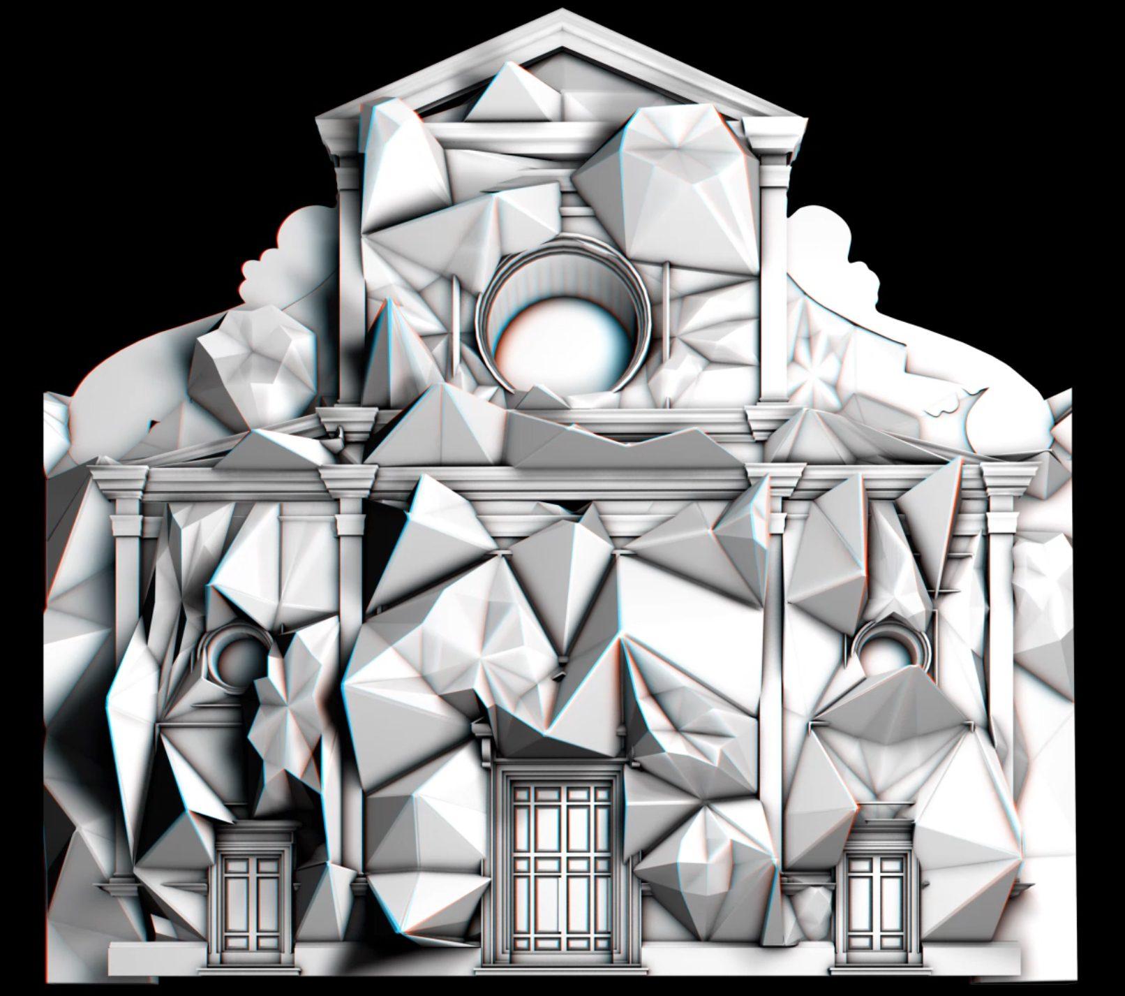 """""""Axioma. A Journey Through the Dimension"""" estratti dal videomapping in 3D stereoscopico"""